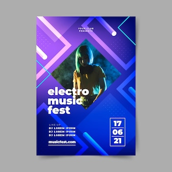 Cartel de evento musical de mujer para 2021