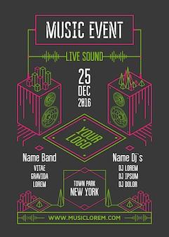 Cartel de evento musical