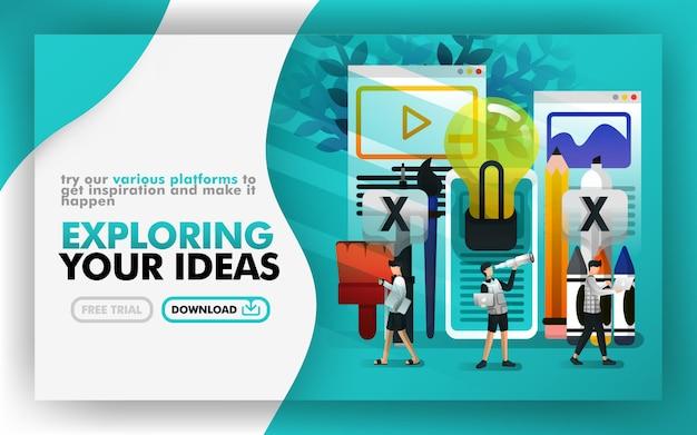Cartel de explorando tu idea