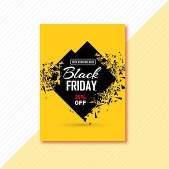 Cartel fantástico para el viernes negro.