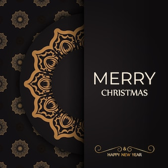 Cartel de felicitación feliz año nuevo y feliz navidad blanco con adornos de invierno.