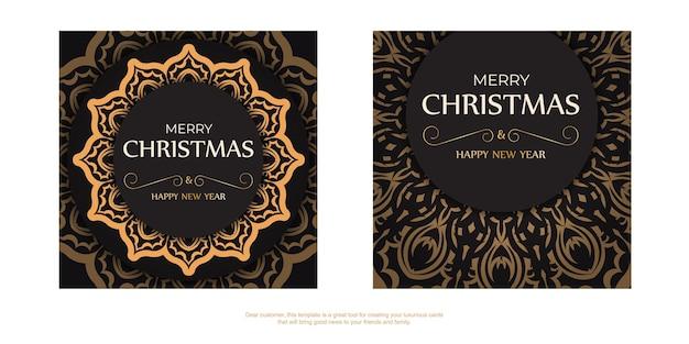 Cartel de felicitación feliz año nuevo y feliz navidad color blanco con adornos de invierno.