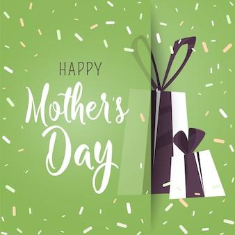 Cartel feliz día de la madre.