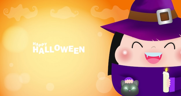 Cartel de feliz halloween