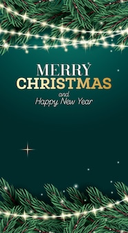 Cartel de feliz navidad y feliz año nuevo