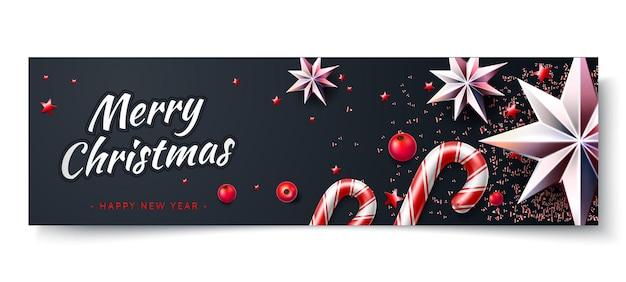 Cartel de feliz navidad y próspero año nuevo