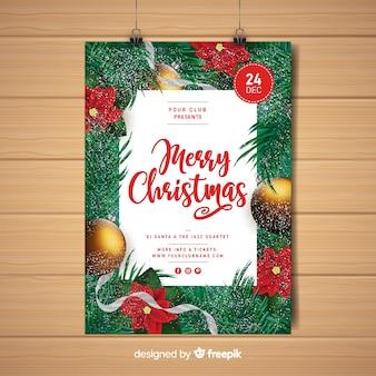 Cartel de feliz navidad