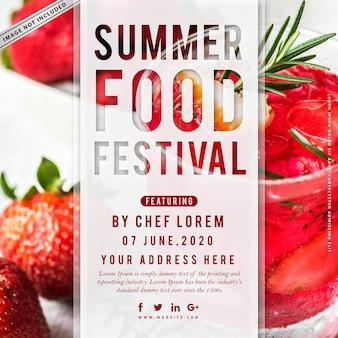 Cartel del festival de comida de verano