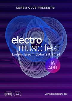 Cartel del festival electrónico. diseño de portada de espectáculo creativo