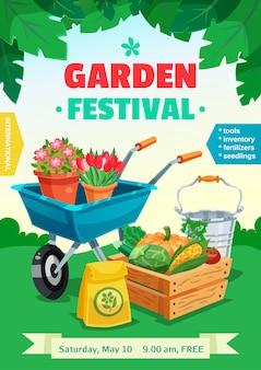 Cartel del festival del jardín