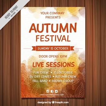 Cartel del festival del medio otoño pintado con acuarelas