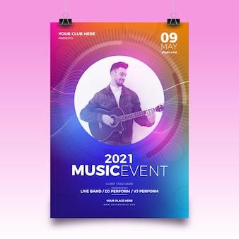 Cartel del festival de música 2021