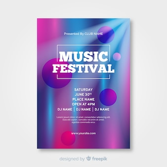 Cartel de festival de música abstracto