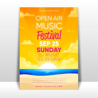 Cartel del festival de música al aire libre.