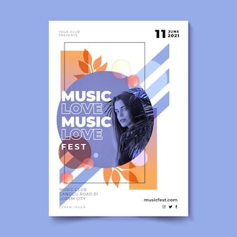 Cartel del festival de música festival de amor