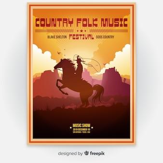 Cartel del festival de música de la ilustración de la pendiente