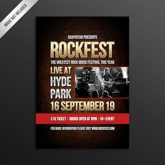 Cartel del festival de música indie rock