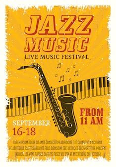Cartel del festival de música de jazz