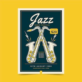 Cartel del festival de música jazz