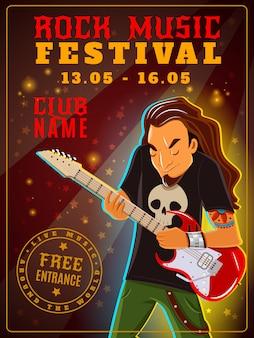 Cartel del festival de música rock