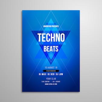 Cartel del festival de música techno