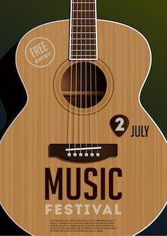 Cartel del festival de música.