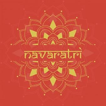 Cartel para el festival de navaratri