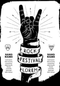 Cartel del festival de rock.