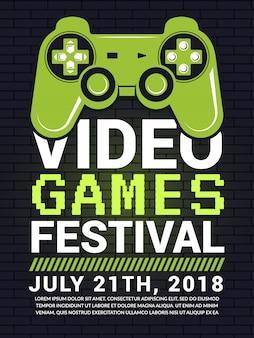 Cartel del festival de videojuegos.