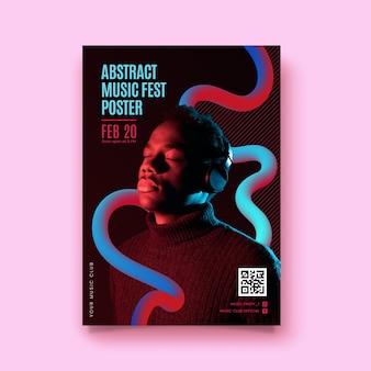 Cartel fiesta abstracta con foto