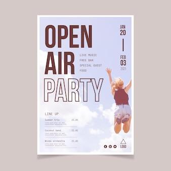 Cartel fiesta al aire libre