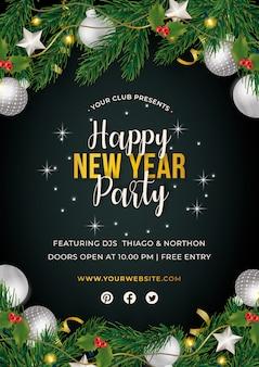 Cartel fiesta de año nuevo