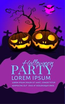 Cartel de fiesta de calabazas de halloween.