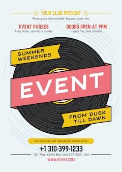 Cartel de fiesta de evento musical