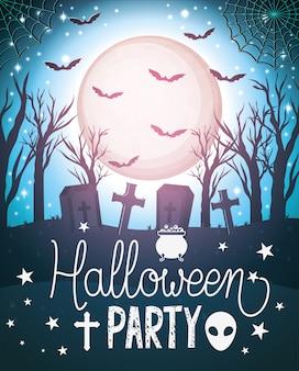 Cartel de fiesta de feliz halloween