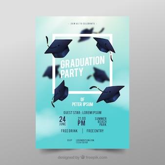 Cartel de fiesta de graduacion