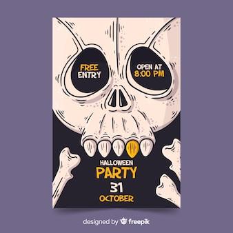Cartel de fiesta de halloween dibujado a mano