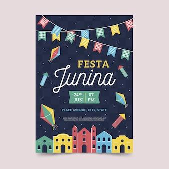Cartel de fiesta junina