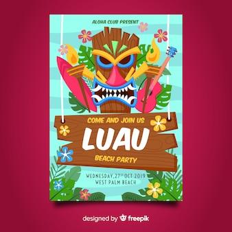 Tarjeta De Invitación A La Fiesta De Verano Hawaiana