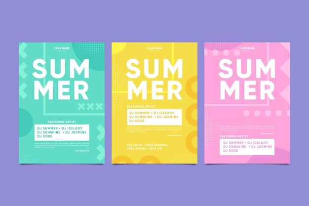 Cartel de fiesta mínima de verano