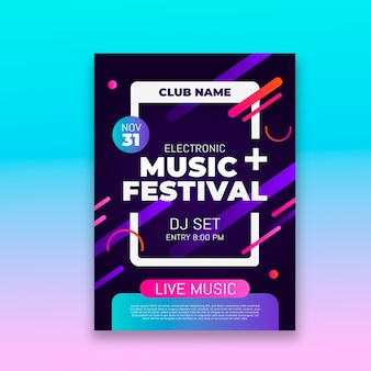 Cartel de fiesta de música abstracta
