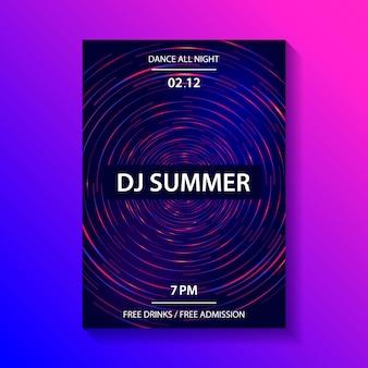 Cartel de la fiesta de música del club