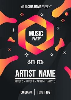 Cartel de fiesta de música moderna