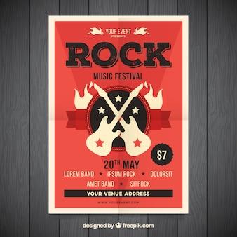 Cartel de fiesta de música de rock
