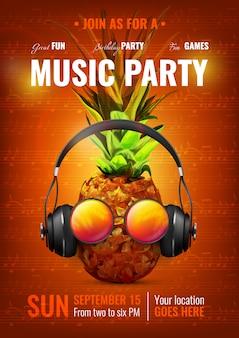 Cartel de fiesta de musica