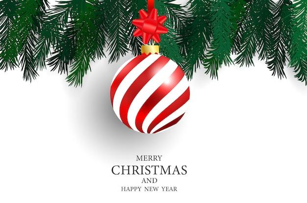 Cartel de la fiesta de navidad y fondo feliz año nuevo.