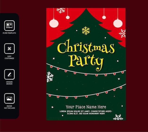 Cartel de fiesta de navidad realista