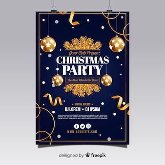 Cartel de la fiesta de navidad