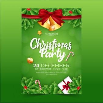 Cartel de fiesta de navidad