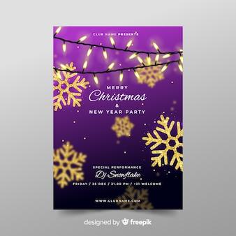 Cartel de fiesta navideña y de año nuevo